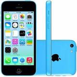 Iphone 5c Azul 8gb Com Acessórios Garantia Nota E Brinde