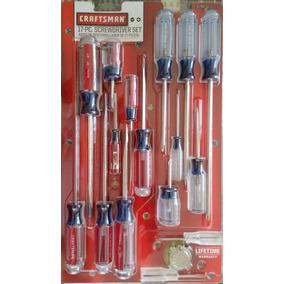 Set Craftsman De 17 Piezas De Desarmadores Destornilladores