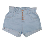 Short Plus Size Jeans Feminino Cintura Alta Lycra E Elastico