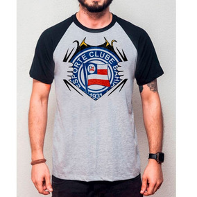 Camiseta Masculina Bahia - Blusa Raglan Clube Ef3