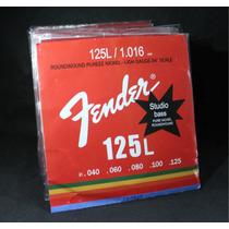 Encordoamento Fender 5 Cordas Para Baixo   040 - 125