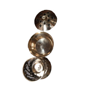 Rechoud Bronze Vela Aromatizador Difusor Dourado Indiano