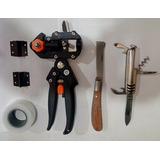 Kit Enxertia Com Alicate, Fita E Canivetes Para Enxertos