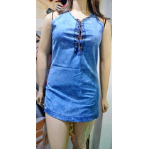 Vestido Vestidinho Jeans Curto Plus Size Tam 46 48 50 52 54