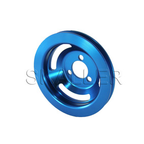 Polia Bomba D Água Alumínio Vw Gol Ap Beep Turbo Azul
