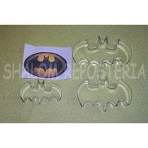 *kit 3 Cortadores Galleta Batman Murcielagos Royal Fondant*