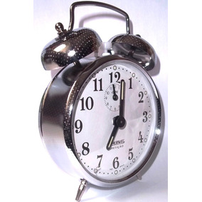 Relógio Despertador Antigo Cordas Cromado Herweg