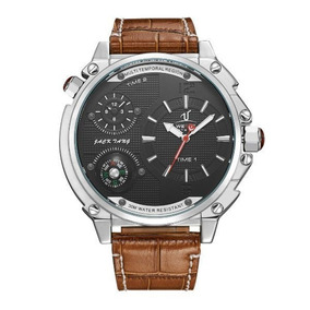 Relógio Masculino Weide Uv-1507 Analógico Preto prata C  Nf 91cc281960637