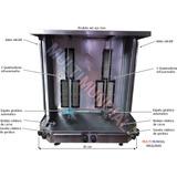 Máquina De Churrasco Grego/kebab Dupla Capacidade 150 Kg
