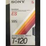 Fita Video Cassete Sony T 120 Ou Jvc Lacrada