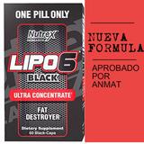 Lipo 6 Black Ultra-concentrado.60caps Nutrex Usa New Formula