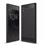Estuche Protector Carbono Sony Xperia Xa1 - Negro