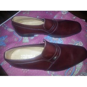 Zapatos De Vestir De Cuero Fino, Sin Uso, Nro 41 Con Detalle