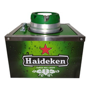 Porta Barril Chopp Heineken 5 Litros + 6 Porta Copos Gratis