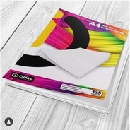 Papel A4 Glossy 135gr X 100 Hojas Office