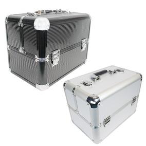 Maleta Organizadora Para Maquiagem Alumínio 6 Bandejas -
