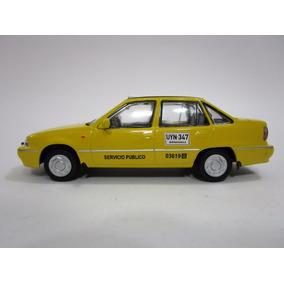Taxi Daewoo Cielo Escala 11 Cm Metalico Coleccion 1/43