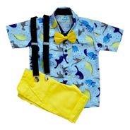 Conj. Roupa Festa Aniversario Camisa Social Infantil Menino