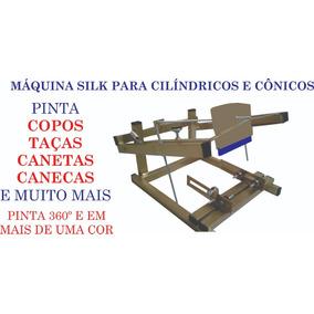 Máquina Silk Para Copos, Balões, Canetas, Garrafas