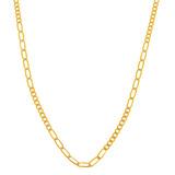 Collar Combinado Diamantado Platinado Oro Amaril - 117895664