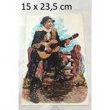 Antigua Lamina Carlos Gardel Con Guitarra