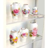 Set De 6 Jarrones Miniatura Para Casa Muñecas E 1:12 Flor