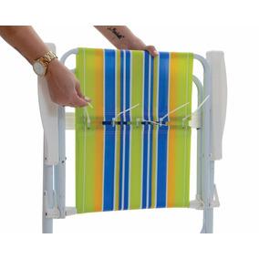 Refil Para Cadeira De Praia Pano Com 05 Unidades Fácil Troca