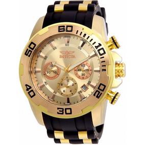 Relógio Invicta Pro Diver 22342 Dourado Masculino Original