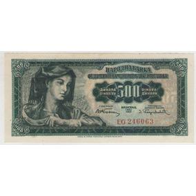 Billete Yugoslavia 500 Dinara 1955 Pick 70 S/c