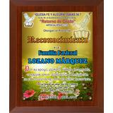Placa Reconocimiento Diploma 25x35 Resina Vitrificada