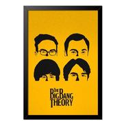Quadro Poster The Big Bang Theory Rostos 33x23cm
