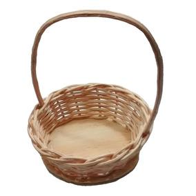 30 Mini Cesta Lembrancinha Palha Bambu Ref.204 04x10