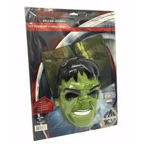 Disfraz Hulk Kit Mascara + Remera - Jugueteria Aplausos
