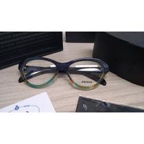 Armação Para Óculos De Grau Acetato Prada Vpr25 Azul Marinho