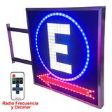 Carteles Led Estacionamiento 70 X 70cm - 2 Caras - Luminosos