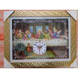 Quadro Relogio Mesa Santa Ceia Apostolo Jesus Presepio 40x30