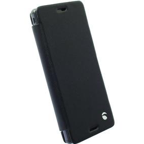Funda Para Sony Xperia M4, Flip Wallet Malmo Aqua, Negro