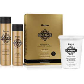 Kit Relaxamento Gold Black Guanidina 1kg - Amend