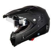 Casco Para Moto Gdr  Mx-311 Negro Mate Doble Proposito