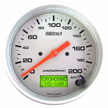 Velocímetro Eletrônico 100mm 200km/h Cronomac Racing Il