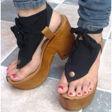 Sandalias Miami De 11cm (35/40) Horma Chica + 2 Pañuelos
