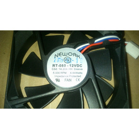 4 Cooler Nework Rt-80 14.204hh- 5k Rpm 80x25mm Frete Grátis