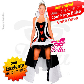 Fantasia Rainha De Copas - Brinde Grátis