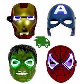 Mascaras De Avengers, Spiderman, Hulk, Capitán, Con Luces