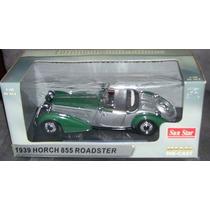 1939 Horch 855 Roadster Verde 1/18 Por Sunstar 2404