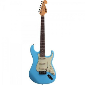 Guitarra Strato 3s Mg32 Azul Vintage Daphne Blue Memphis By