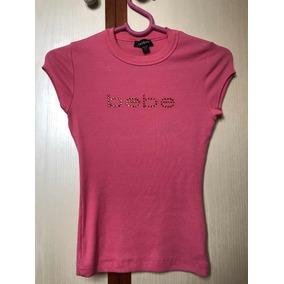 Camiseta Bebê Original Feminina Marca Rosa Brilhos Eua 5b931317e42d0