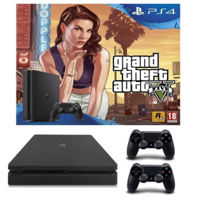Sony Playstation 4 1tb Slim Ps4 + Gta 5 V + 2 Joysticks