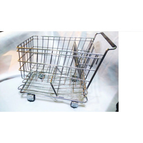 Mini Supermercado Carro De Compras,,florero,frutero Deco28cm