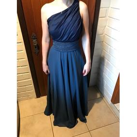 Vestido Feminino Longo Azul Casamento Formatura Madrinhas